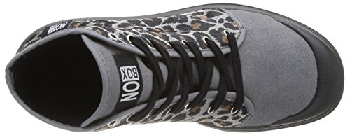 No Box Galia, Baskets mode femme Gris (Leopard Grey)