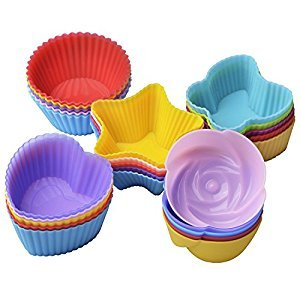 HPK Branded cupcake reusable microwave safe silicone muffin cups for IFB 20 L Convection Microwave Oven