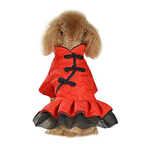 erbst Winter Mode Dress Hund Kostüm Für Haustiere Bequemes Nice Weiches Party Kleidung Tutu Warm Princess Leichte Chic Hochzeit Abendkleid Lässig Sale Lovely Tang Anzug ()