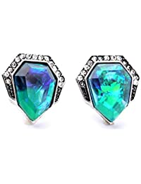 Ruvee Glitterati Auora Galaxy Zircon Alloy Stud Earring For Women