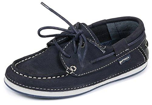 Garvalin  Perros,  Scarpe da barca ragazzo Blu Bleu (Azul/Nobuck) 31