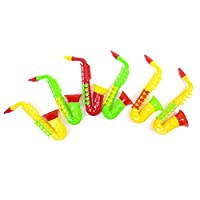 TIANTIAN 1 Pc Plastic Trumpet saxophone Hooter Plastic Musical Instrument Early Education Toys For Baby Kids Musical Toys Random Color