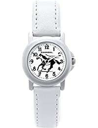 Cannibal Girl's Quartz Watch with White Dial Analogue Display and White Plastic or Pu Strap CK193-01