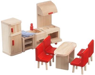 Beeboo 32302 - Muebles de cocina de madera para casa de muñecas de beeboo