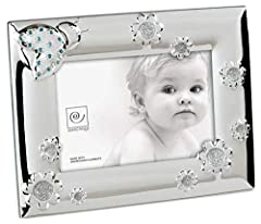 Idea Regalo - Mascagni Casa Cornice Portafoto Formato 10X15 con Fantasie E Cristalli Swarovski 962, Metallo, 17 x 22 x 1,5 cm