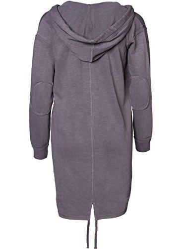 DAILY'S KONSTANZE Damen oversize Sweatjacke mit Überlänge aus 100% Bio-Baumwolle - soziale fair trade Kleidung, Mode vegan und nachhaltig Color loft, Size S - 2