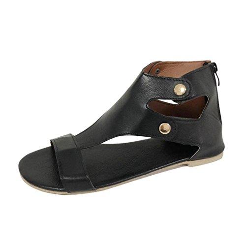11eeb57464c59b Women s Flat Sandals OverDose Summer Fashion Flat Roman Shoes Casual Shoes  (38 ...