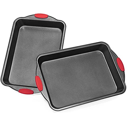 Elite BakewareTM Extra Large All Purpose Baking Pans with Ultra Nonstick Coating and Sure Grip Handles - Premium Baking Pans - Cake Pans - Roasting Pan (Quantity of 2) by Elite Kitchenware