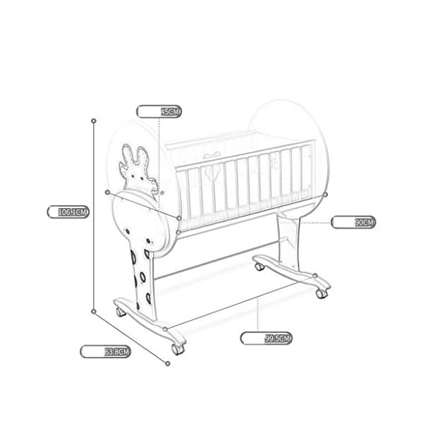 DUWEN-Cot bed Solid Wood Multifunctional Baby Cot European Toddler Bed Game Bed Children's Bed DUWEN-Cot bed 1. This perfect multi-functional crib is your baby's best gift. It gives the baby a space-like surprise experience, cultivates the baby's independent consciousness, and exercises the baby's hand and foot coordination ability. It is your best choice. 2. Multifunctional crib is made of environmentally friendly pine wood, which is tough and durable, not easy to crack and deform. The load is up to 120KG. The crib is made of safe and environmentally friendly paint. It is non-irritating and harmless to the baby. Mother can buy with confidence. 3. The three pedestal positions of the crib are suitable for the baby's growth stage, improve visibility and ventilation in all directions, select the gear according to the baby's body and age, meet the baby's various growth needs, the space is larger, the use is more comfortable. 8