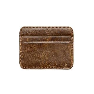 AgentX Men's eather ID Credit Card Case Holder Slim Pocket Wallet -  Brown -