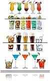 Cocktail, long drink e birra 3 pezzi di immagini su tela 120x80 su tela, XXL Immagini enormi completamente Pagina con la barella, arte stampa sulla foto muro con cornice, gänstiger come un dipinto o un dipinto ad olio, non un manifesto o un banner