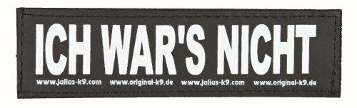 Julius K9 8151572 2 Klettsticker L. Ich Wars Nicht!…   05999053632755