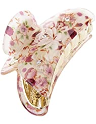 Gazechimp Femme Fille Griffe Pince à Cheveux en Fleur Imprimé Accessoire pour Coiffure - #5