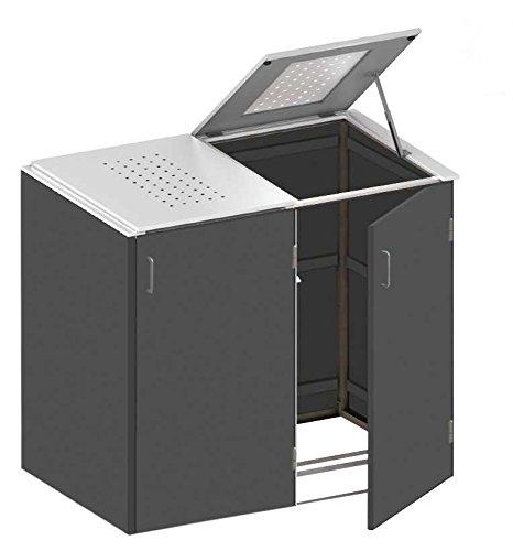 Mülltonnenbox HPL schiefer