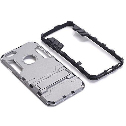 Forepin® Heavy Duty Stoßfest Hülle für Apple iPhone 7 4.7 Zoll Dual Layer Hybrid Weich TPU + PC Harte Rück Handys Schutz Bumper Rahmen Case mit Ständer Kickstand Schutzhülle Farbe 05