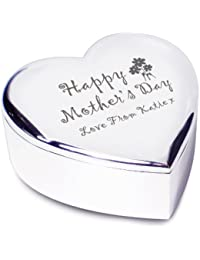 Personalised Limited Edition Mothers Day Heart Trinket Box-Free Laser Engraving