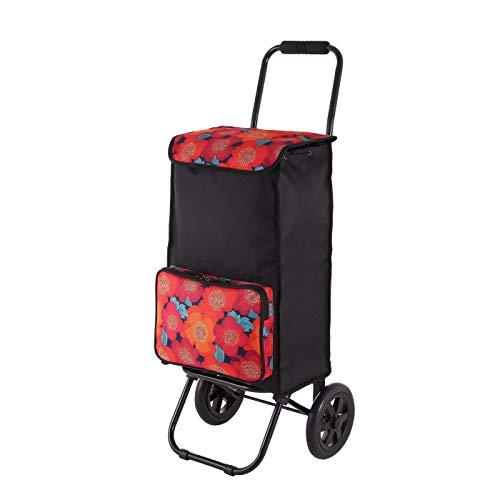 Rada Einkaufstrolley ER/1 40 Liter, robuster Marktroller, Einkaufswagen, Handwagen, mit 2 Rollen, wasserabweisender Transportwagen mit großen Rädern, (multiflower)