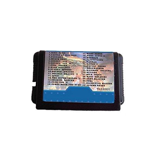 Preisvergleich Produktbild GOZAR 16 Bit 32 In 1 Black Game Cartridge Für Md Sega Mega Drive