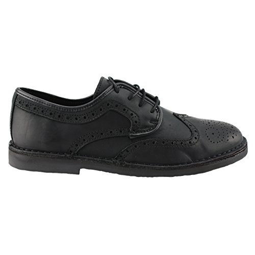 Boots & Braces - 2012er Classic Budapester 4-Loch Leder Stiefel Schwarz/Black Schuhe Halbschuhe Schwarz