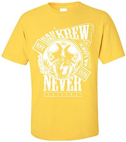 PAPAYANA - BAD-KREW - Herren T-Shirt - BONES NEVER DIE SKULL Gelb