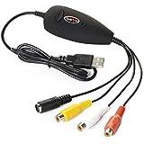 Koolertron Adaptateur de Capture vidéo USB 2.0 pour Windows Xp/2000/Vista/Win7/Win8