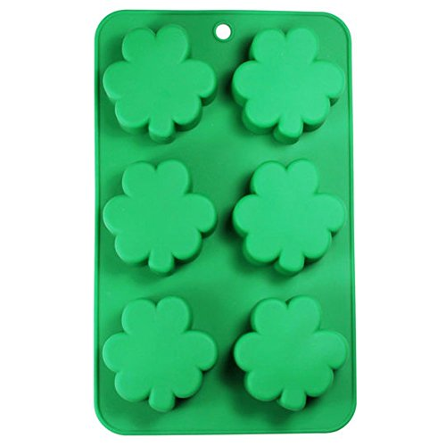 St. Patrick 's Day Shamrock Kleeblatt 6 Mulden Silikon Form Backen & Party Candy & Cake Making Formen