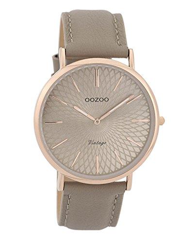 Oozoo Vintage Damenuhr Lederband 40 MM Rose/Taupe/Taupe C9335
