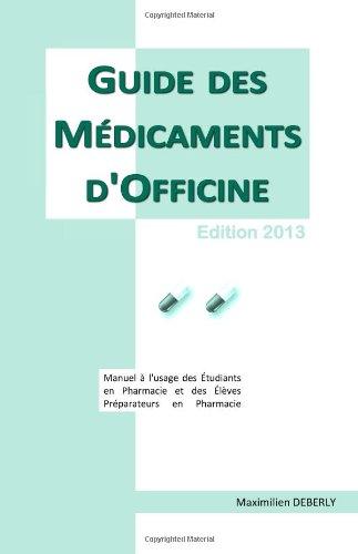 Guide des médicaments d'officine 2013