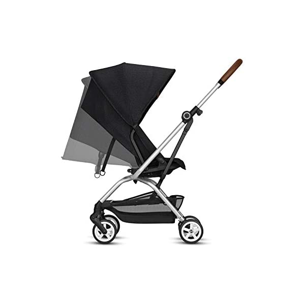 CYBEX Gold Eezy S Twist Compact Pushchair, 360° Rotatable Seat Unit, Ultra-Compact, From Birth to 17 kg (approx. 4 years), Lavastone Black  Sturdy, High-quality Compact Pushchair for newborns up to approx. 17 kg (approx. 4 years) with unique rotatable seat unit - Including rain cover for optimum use in all weather conditions Quick and easy change of direction with 360° rotatable seat unit, Comfortable sitting position thanks to stepless adjustable reclining backrest with lie-flat position, Puncture proof tyres and all-terrain wheel suspension Simple folding with one-hand folding mechanism for compact travel size (LxWxH: 26 x 45 x 56 cm), Extremely manoeuvrable due to narrow wheelbase, Can also be used as 3-in-1 travel system with separately available CYBEX and gb infant carriers and the baby cocoon S (sold separately) 3