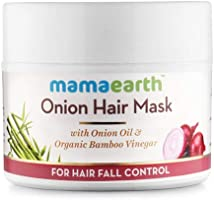 Mamaearth's Onion Hair Mask for Hairfall Control with Organic Bamboo Vinegar 200ml