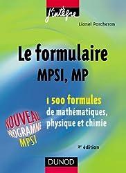 Le formulaire MPSI, MP