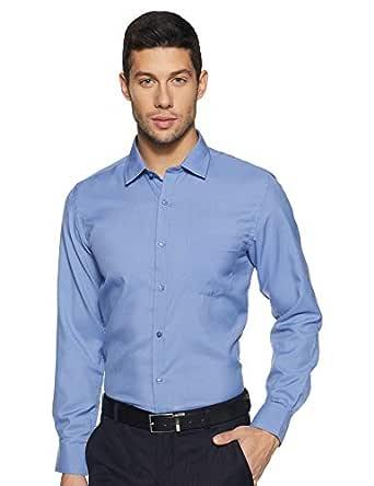 Diverse Men's Solid Slim Fit Formal Shirt (DCMFF02RC07KA1-699_Blue_42)