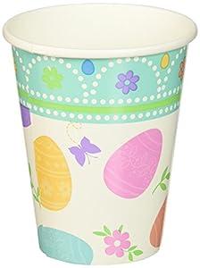 Amscan-581591266ml Lovely vasos de papel de Pascua