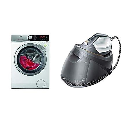 AEG-L8FE76495-WaschmaschineProSteam-AuffrischfunktionkoMix-Faserschutz-ST8-1-8EGM-Dampfbgelstation-Touchscreen-4-Bgelprogramme-mit-Outdoor-Technologie-12-l-Wassertank-grau