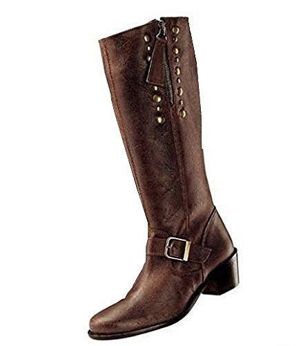 Stiefel in Used Optik wunderschönes Leder in braun Braun