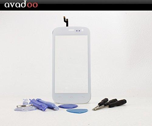 avadoo® Mobistel Cynus F4 Displayglas Touchscreen Weiß Reparaturglas Touch Screen Display Glas für Mobistel F4 in Weiß inklusive Werkzeugset und Beschreibung !!!