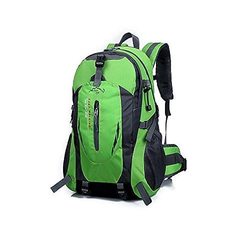 Hiking Backpack 40L, Hansee Waterproof Nylon Travel Luggage Rucksack Backpack Bag (Red/Orange/Hot Pink/Green/Dark Blue/Blue/Black/Army Green)
