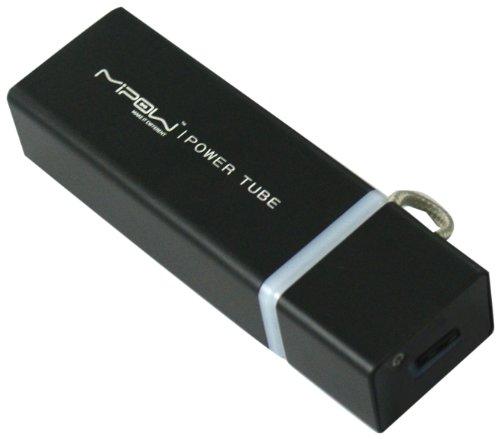 MiPow SP3000-BK PowerTube 3000 mobiler Zusatzakku für iPhone (3er, 4er Serie), iPods (ohne Lighting-Anschluss),  Smartphones, PSP, NDS, MP3-Player (3000mAh) schwarz