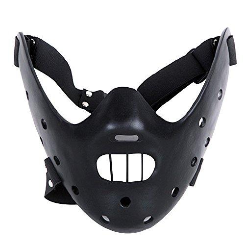 Alxcio Halloween Maske Sammleredition Film Theme Harz Maske für Maskerade Kostüm Partei Cosplay Geschenk ( Hannibal Lector, Schwarz ()