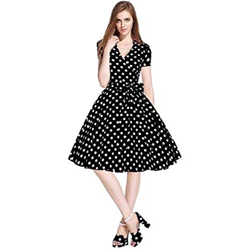 Lenfesh Audrey Hepburn Estilo Vestidos Fiesta Cortos
