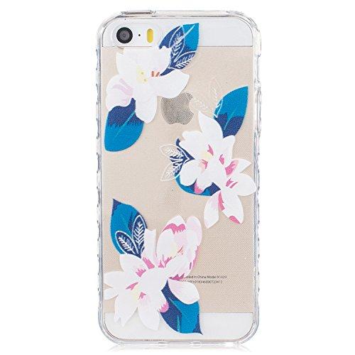 iphone 5 / 5S / SE Case,YuDan Trasparente Ultra Slim 0.3mm gel TPU Case Custodia Skin in silicone Cover per Apple iphone 5 / 5S / SE Anti-Shock Anti-Scratch Tacsa Custodia Caso - DX3 DX13