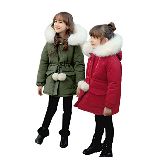 Girls Coats, SHOBDW Girl New Style Winter Thick Cotton Warm Outwear Coat Kids Snow Jacket