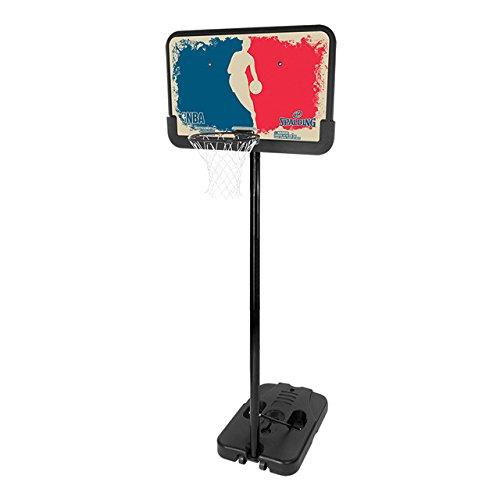 Spalding Korbanlage NBA Logoman Portable, Blue/Red, 44, 3001658011444 Spalding Basketballkorb Portable