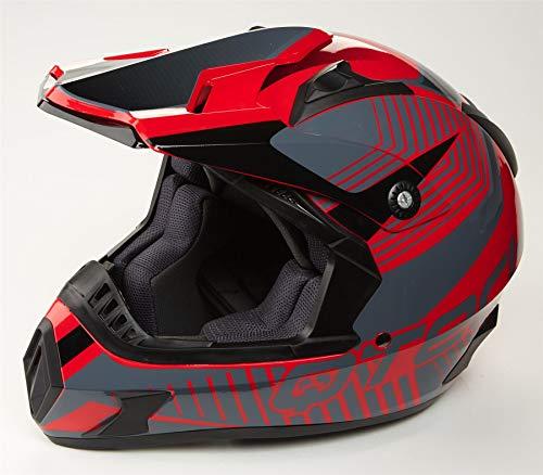Qtech CROSSHELM Offroad Motocross Casco Cross Enduro Quad con Occhiali MX MTB ECE22-05