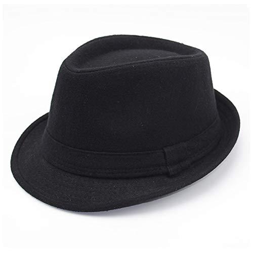 Unisex-Charme Cowboyhüte Leder American Winter Damen Vintage Schwarze Hüte für Frauen Fedora Hut (Farbe : 4, Größe : 56-59cm) - Leder-hut-frauen