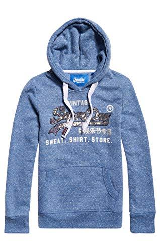 Shop Sequin Entry Hood Pullover, Blau (Cali Blue Snowy Um0), Small (Herstellergröße: 10.0) ()