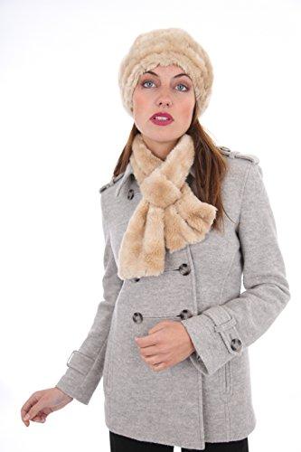 Piel Sintética De Remolino mujer Boina bufanda invierno