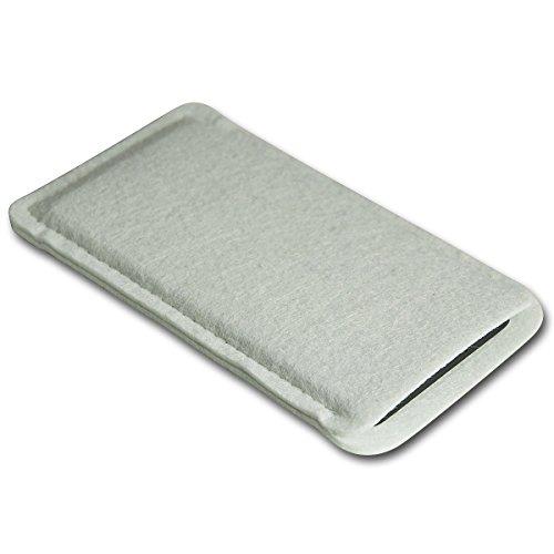 Filz Style Apple Iphone 5 / 5S / 5C Premium Filz Handy Tasche Hülle Etui passgenau für Apple Iphone 5 / 5S / 5C - Farbe dunkelblau weiß