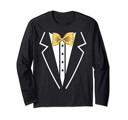 Fliege Nudeln Smoking Tuxedo Anzug Langarmshirt - Tuxedo-anzug