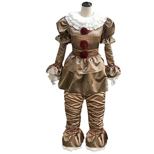 JHion Halloween Clown Cosplay Kostüm IT Ultimate ultimativ Pennywise Gold L